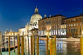 A view of the Canal Grande and the Basilica di Santa Maria della Salute, Venice, Italy