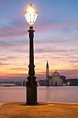 An evening view of the island of San Giorgio Maggiore, Venice, Italy