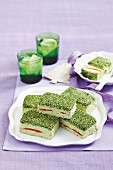 Avocado and pistachio terrines