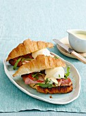 Ham and egg croissants