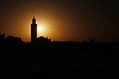A silhouette of Marrakesh, Morocco