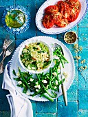 Green beans with feta (Greece)