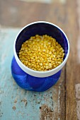 A cup of mung beans