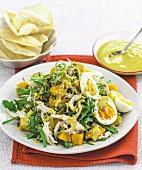 Curried chicken and pumpkin salad