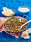 Chickpea & mince curry