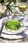 Green bean salad with lemons