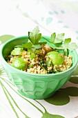 Quinoa salad with avocado and parsley