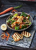 Parsnip and carrot salad with tahini dressing