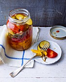 Mixed fermented pickled vegetables