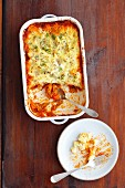 Minced meat and vegetable bake with a mashed potato topping