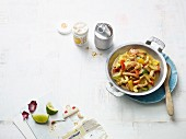 Pork curry with cashew nuts and pineapple (Paleo diet)