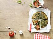 Frittata mit grünen Bohnen & Spinat (Paleo-Diät)