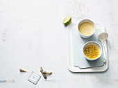 Coconut cream with passion fruit (Paleo diet)