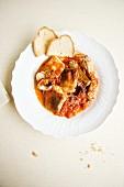 Tegamino di pesce alla viareggina (Viareggio-style fish stew, Italy)