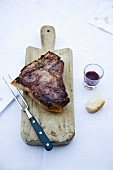 Bistecca alla fiorentina (Florentine-style traditional grilled steak, Italy)