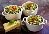 Gratinierte Spinat-Käse-Spätzle