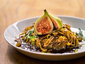 Tagliatelle with figs and rosemary