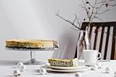 Poppy and lemon cheesecake (Christmas)
