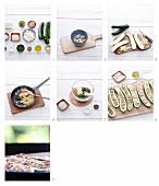 Gefüllte gegrillte Zucchini mit Schafskäse zubereiten