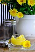 Homemade marigold cream