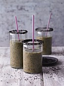 Banana and sesame seed smoothies with aloe vera