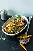 Lauwarmer Röstgemüse-Salat mit Quinoa & Orangendressing