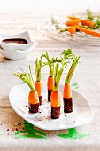 Carrot sweet with chilli chocolate