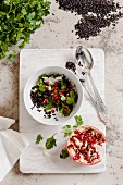 Black rice with pomegranate