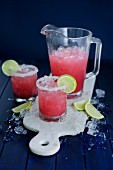 Rhubarb and ginger margarita