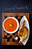 Tomato soup with grilled sandwiches