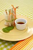 Vietnamesische Sommerrollen mit Gemüse & Hähnchen