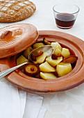 Gedämpftes Kartoffel-Pilz-Gemüse