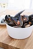 Belgian style mussels