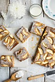 Apple and nut tray-bake cake