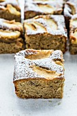 Apple and nut tray bake cake
