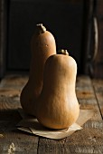 Butternut squash on a wooden table