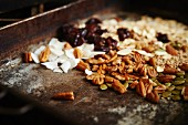 Muesli with nuts, fruit and grains