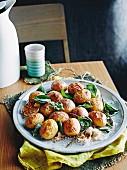 Salt baked potatoes