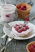 Yoghurt tartlet with raspberries
