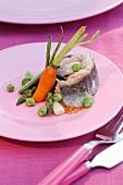 Mackerel fillet with vegetables