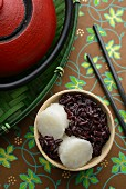 Tape Uli (sweet, fermented, black sticky rice with coconut milk, Indonesia)