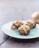 Stuffed grilled mushrooms