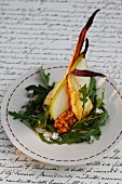 Parsnip with a pear and rocket salad