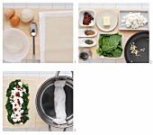 Spinat-Tomate-Ricotta-Rolle zubereiten
