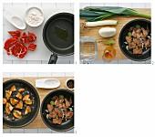 Rindereintopf mit Edel-Reizker zubereiten