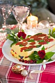 Vegetarian polenta terrine for Christmas