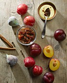 Plum and fig chutney