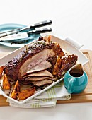 Roasted Peking duck with orange sauce