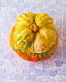 A stuffed turban squash