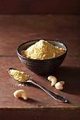 Vegan cashew nut cheese substitute